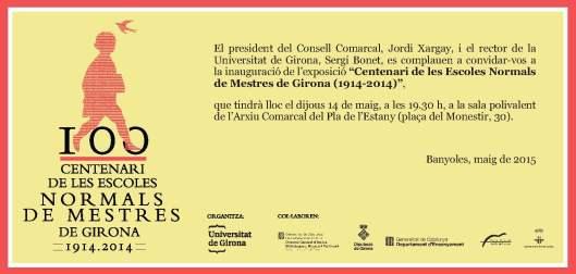 INVITACIO EXPO 100 NORMAL MESTRES BANYOLES